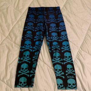 Ombré skull leggings SoulCycle x Zara Terez